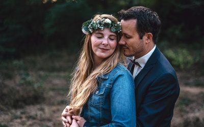 Nadine und Basti – ein traumhaftes After Wedding Shooting in der Heide in Mittelfranken